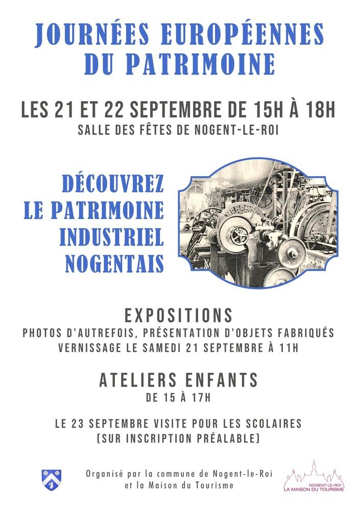 Journées du patrimoine 2019 - Exposition et ateliers ludiques sur le patrimoine industriel nogentais