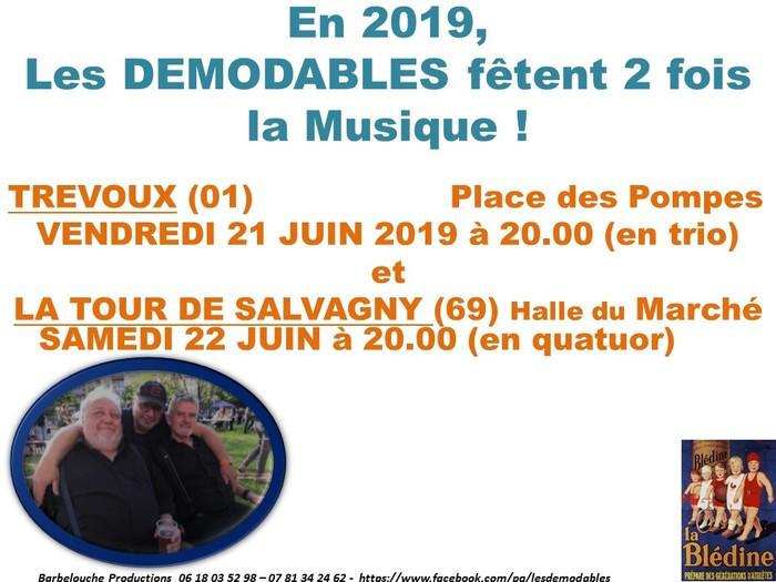 Fête de la musique 2019 - Les démodables en vrai...