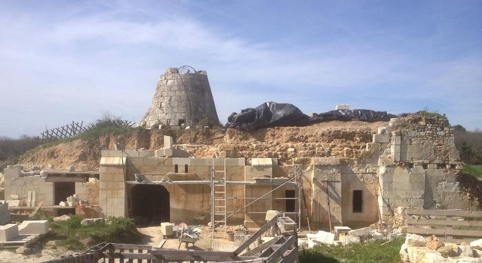 Journées du patrimoine 2020 - Chantier de restauration d'un moulin-cavier