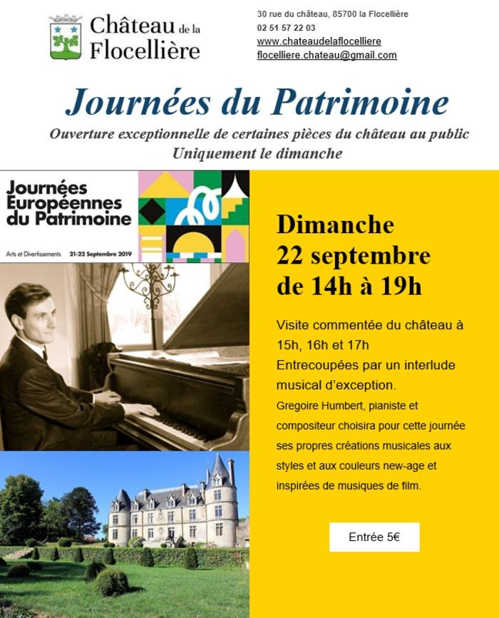 Journées du patrimoine 2019 - Visite commentée du château entrecoupée par un interlude musical d'exception