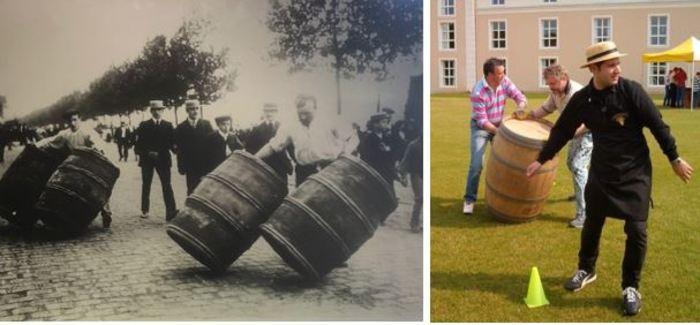 Journées du patrimoine 2019 - Jeu : Le roulage des tonneaux à vin à Bercy Village