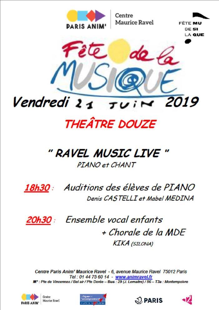 Fête de la musique 2019 - Ravel music live 2019