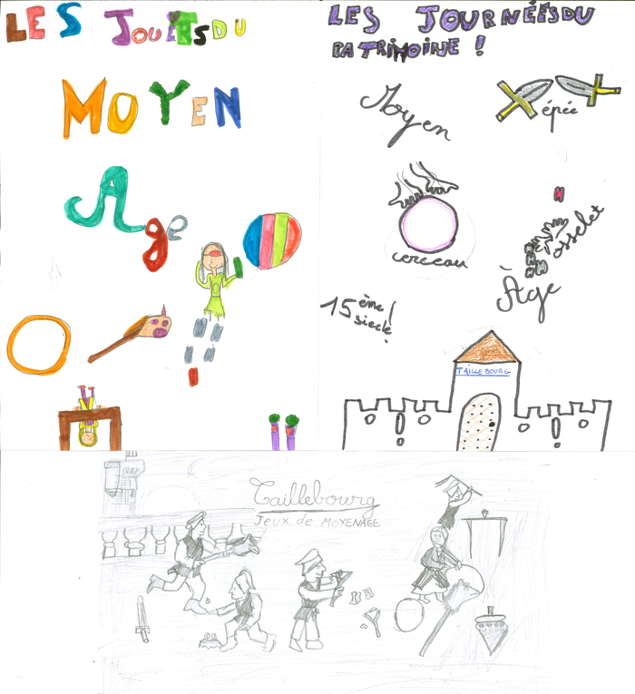 Journées du patrimoine 2019 - Les jeux et jouets du Moyen Âge, par les enfants de l'écoleprimaire François Rabelais