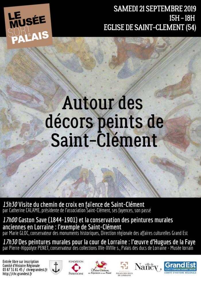 Journées du patrimoine 2019 - Les fresques restaurées de l'église de Saint-Clément