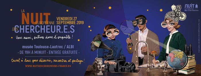 """Pour cette 6ème édition, la Nuit Européenne des Chercheur.e.s sera placée sous la thématique nationale """"Entrez dans l'enquête""""."""