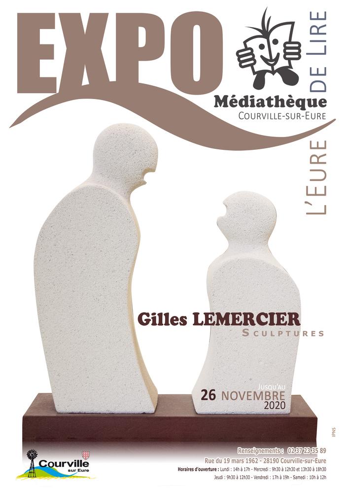Courville : Exposition artistique de sculptures de Gilles Lermercier