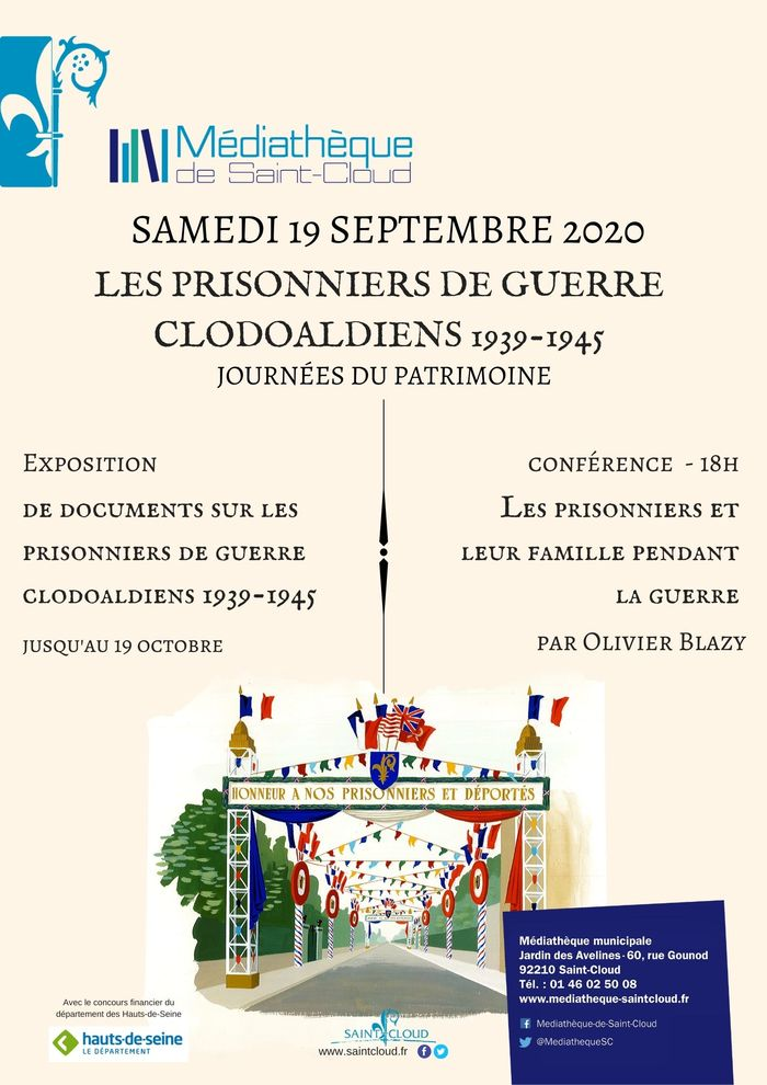 Journées du patrimoine 2020 - Exposition de documents sur les Prisonniers de guerre clodoaldiens 1939-1945.