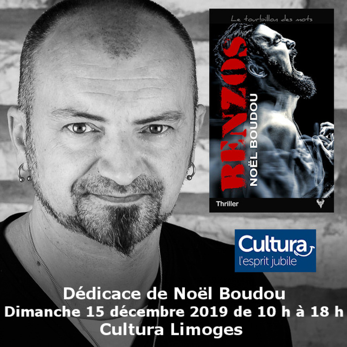 Dédicace Noël Boudou Cultura Limoges 15 décembre 2019