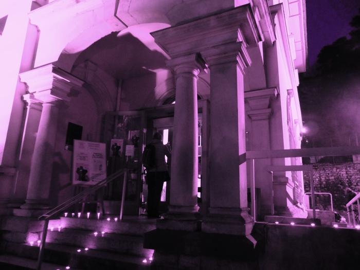 Nuit des musées 2019 -Mise en lumière de la façade du musée