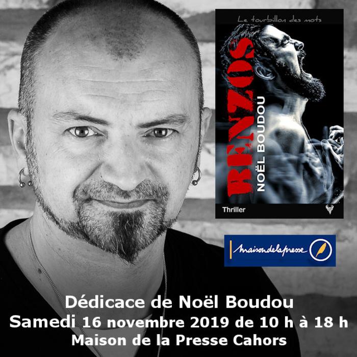 Dédicace Noël Boudou à Cahors Maison de la Presse 16 novembre