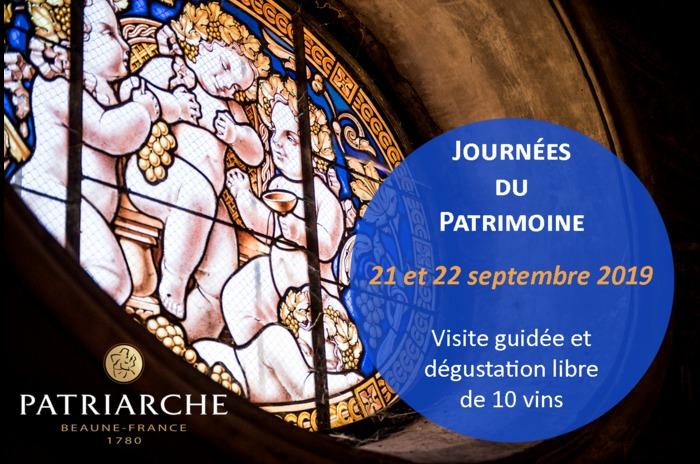Journées du patrimoine 2019 - Caves Patriarche - visite guidée et dégustation libre de 10 vins