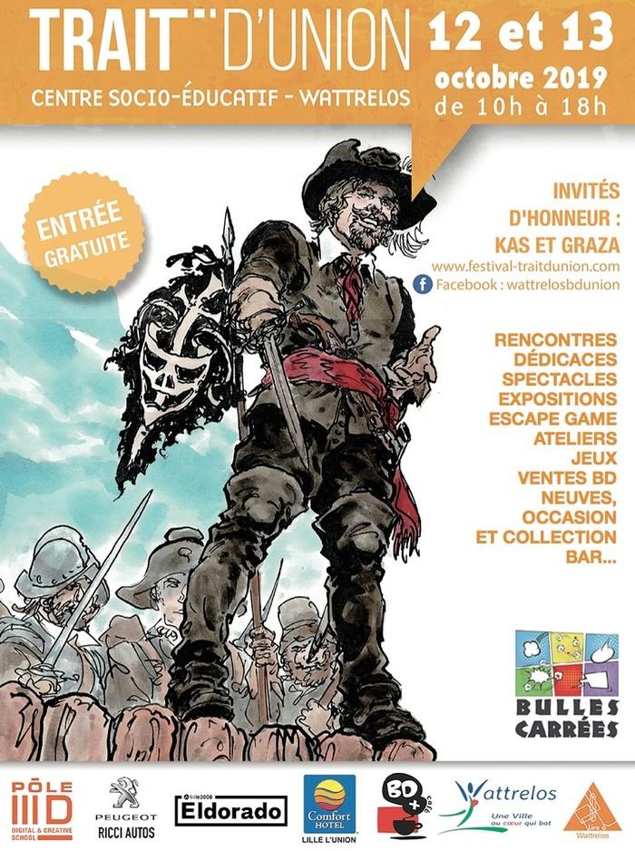 5ème festival de bande dessinée Trait d'union et de la nuit des bibliothèques avec l'association Bulles Carrées.