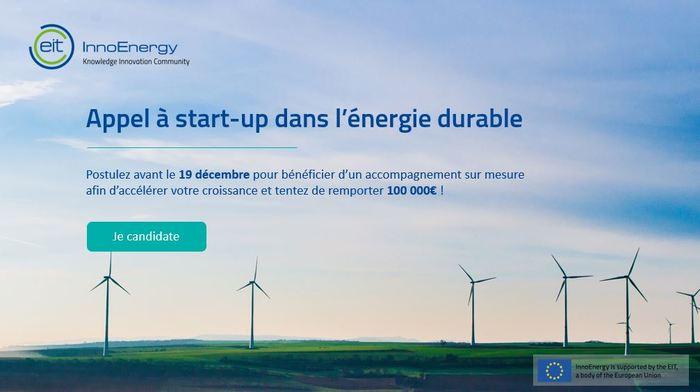 [InnoEnergy] Appel à start-up dans l'énérgie durable