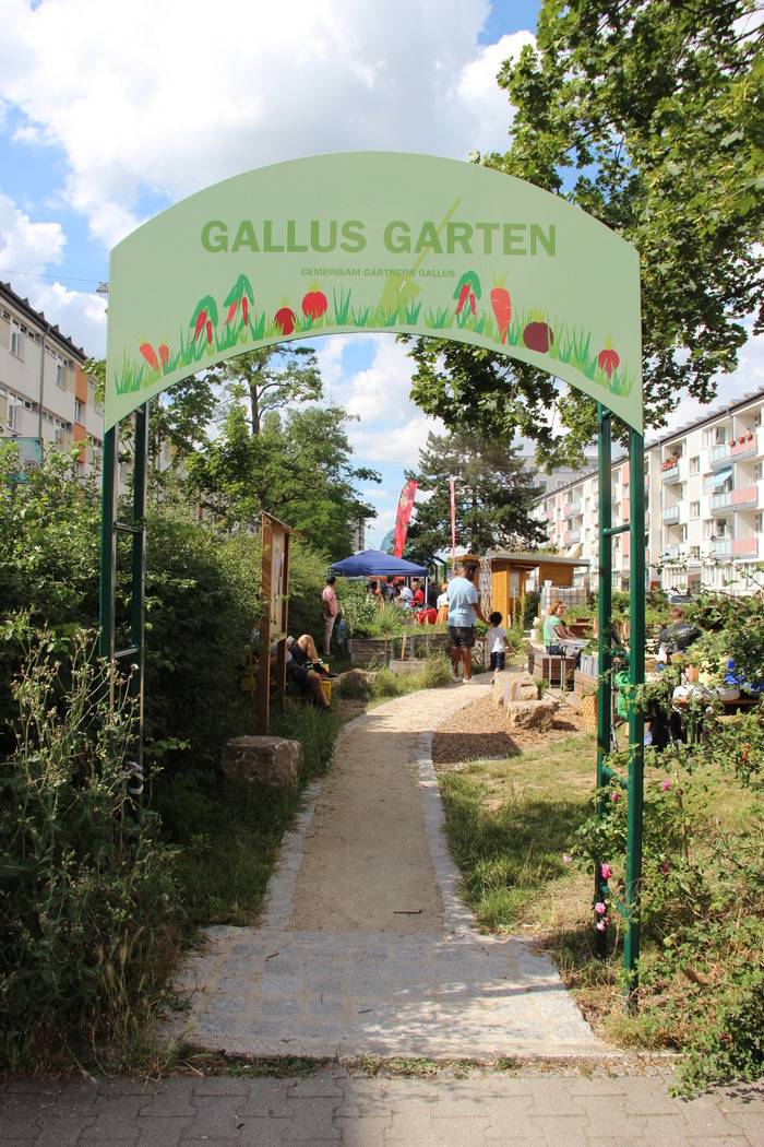 Stadtlabor 'Gärtnern Jetzt! Führung durch den Gallus Garten und Unterstützung für Insekten.