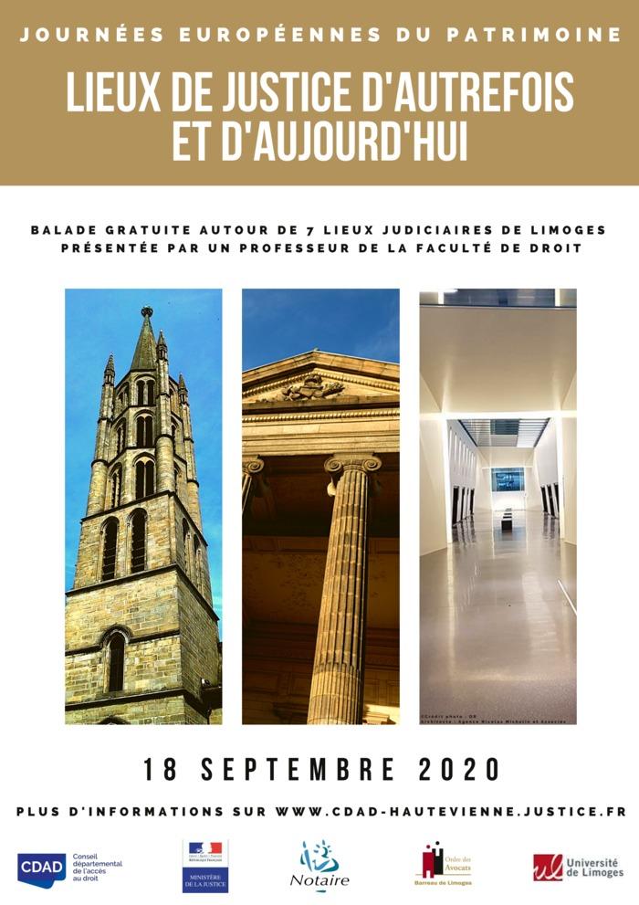 Journées du patrimoine 2020 - Visite commentée : lieux de justice d'autrefois et d'aujourd'hui