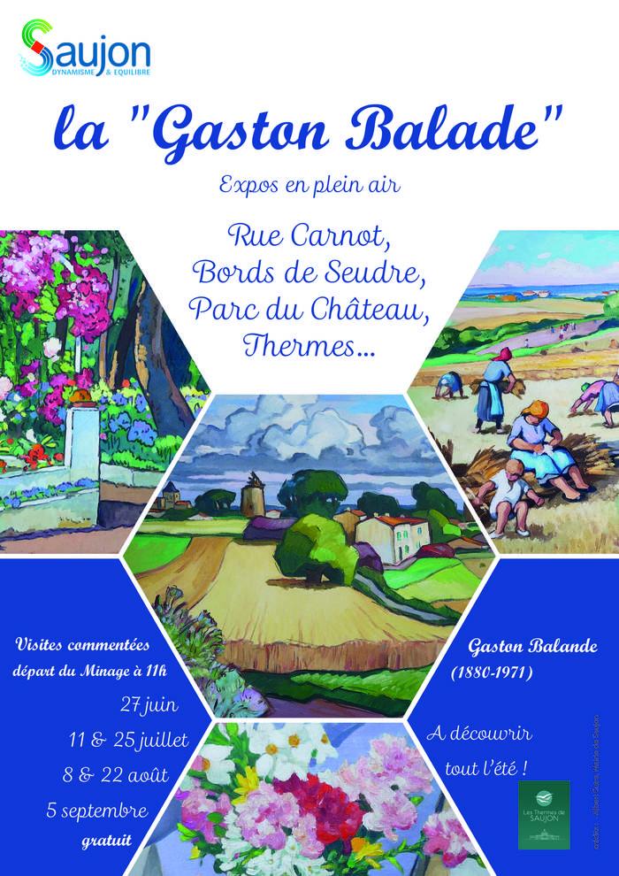 Journées du patrimoine 2019 - Gaston Balade - expositions en plein air à découvrir à travers Saujon.