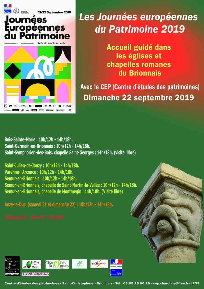 Journées du patrimoine 2019 - Visite de la chapelle de Montmegin