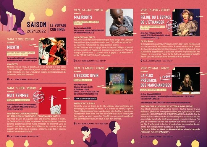 Programme de la nouvelle saison culturelle au Théâtre Les 7 chandelles