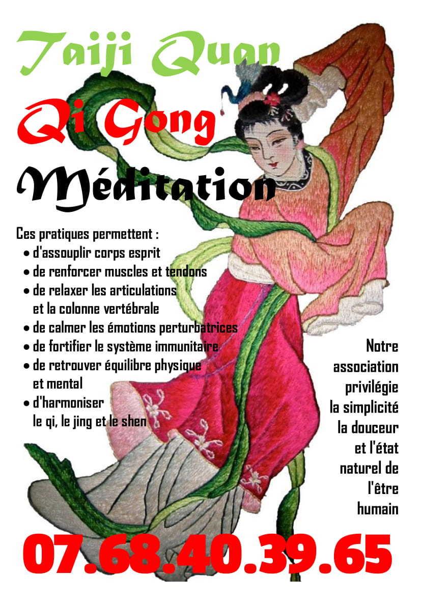 Du 9 au 13 septembre 2019 l'association le fil de soi vous propose de venir découvrir les ateliers de Qi Gong, Taiji Quan et méditation