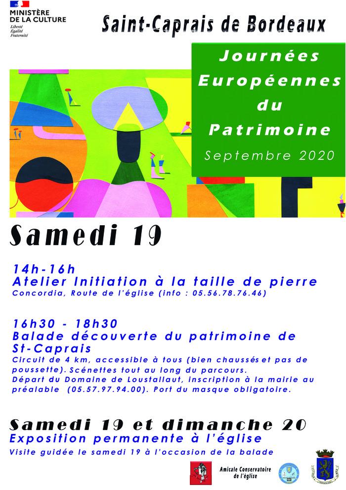 Journées du patrimoine 2020 - Annulé | Balade à la découverte du patrimoine de Saint-Caprais-de-Bordeaux