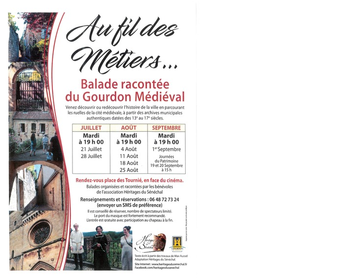 Journées du patrimoine 2020 - Balade racontée du Gourdon médiéval