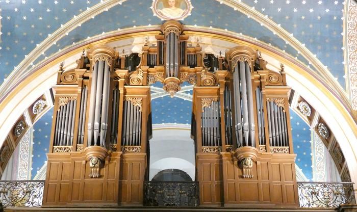 L'église de la Madeleine d'Albi et son orgue historique.