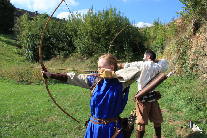Journées du patrimoine 2020 - Démonstration par des archers-arbalétriers