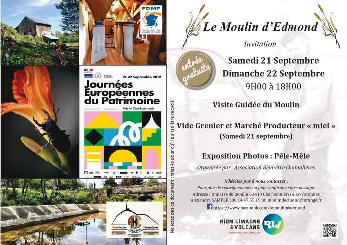 Journées du patrimoine 2019 - Les journées du patrimoine au moulin d'Edmond