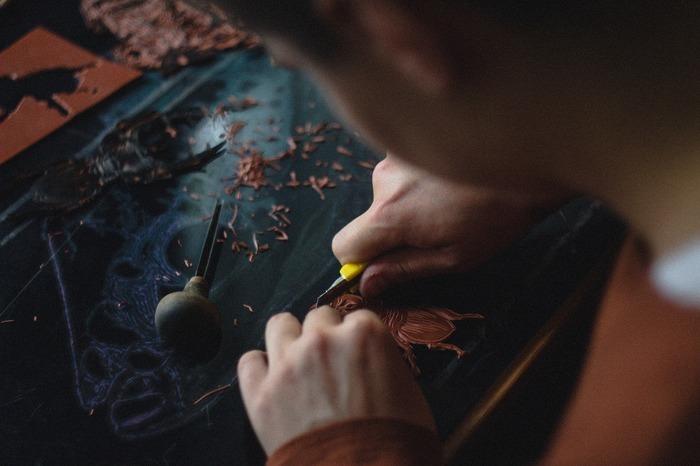 Atelier linogravure avec Récup'R