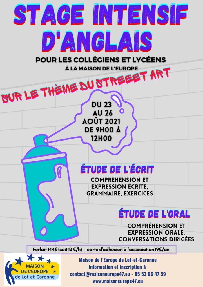 Etude de l'écrit et de l'oral en anglais pour collégiens et lycéens sur le thème du street art.