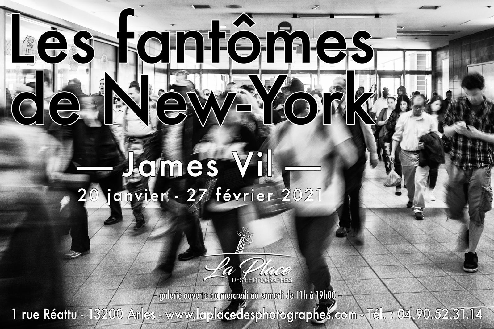 Les fantômes de New-York  Ils arrivent le 20 janvier à La Place des photographes et s'installent jusqu'au 27 février 2021 au 1 bis rue Réattu à Arles.