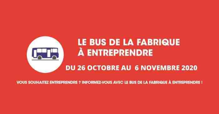 Passage du Bus de la Fabrique à Entreprendre de la BGE