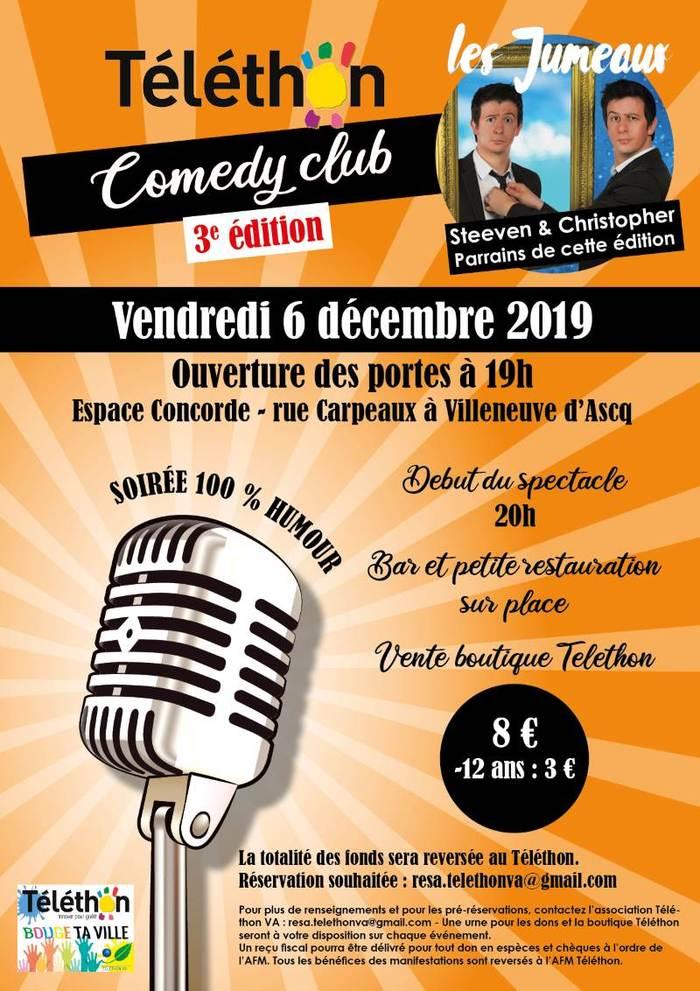 """Téléthon 2019 - """"Téléthon Comédy Club"""""""