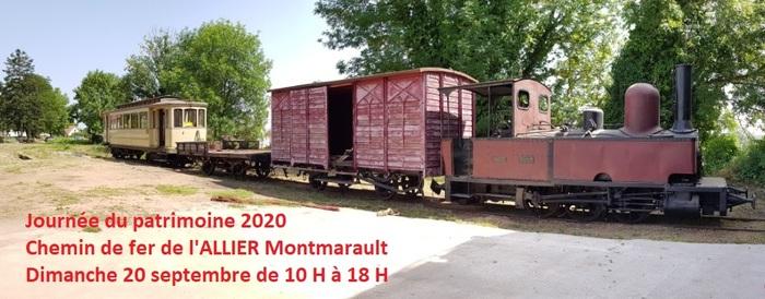 Journées du patrimoine 2020 - Exposition matériel ferroviaire ancien et anciens métiers locaux