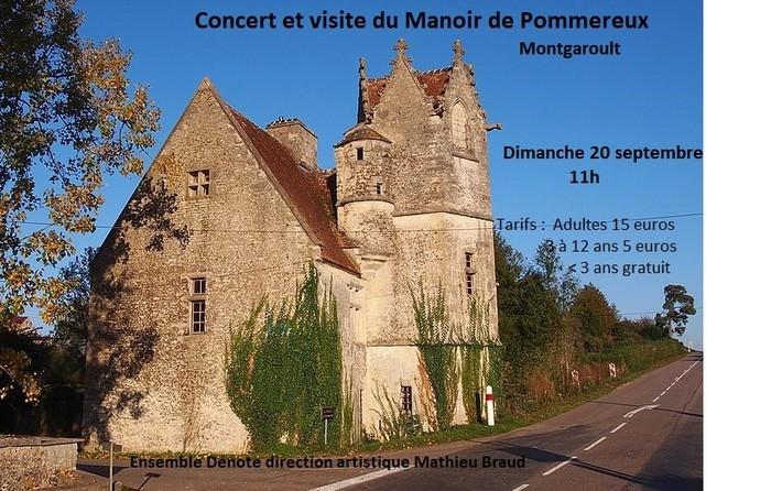 Journées du patrimoine 2020 - Concert quatuor à cordes et visite du Manoir de Pommereux