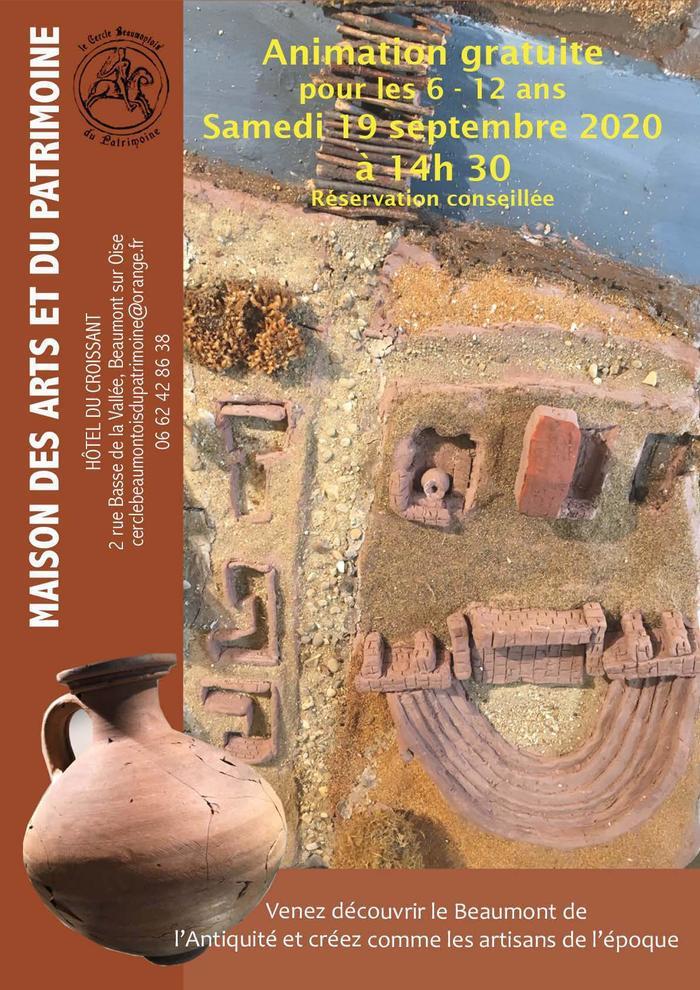 Journées du patrimoine 2020 - Atelier poterie 6-12 ans