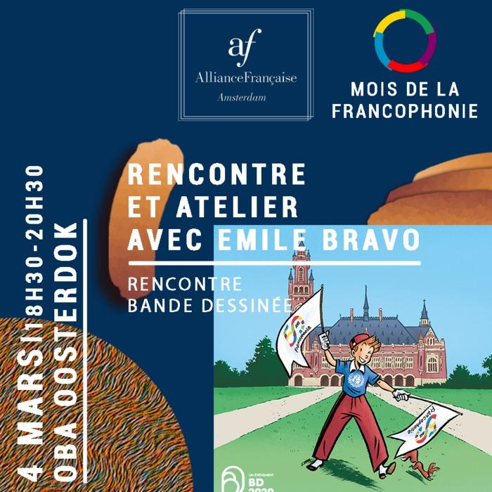 L'AFA vous offre l'occasion de rencontrer le dessinateur et auteur Émile Bravo et de vous initier à la bande-dessinée avec l'un de ses plus talentueux et récompensé artistes français.