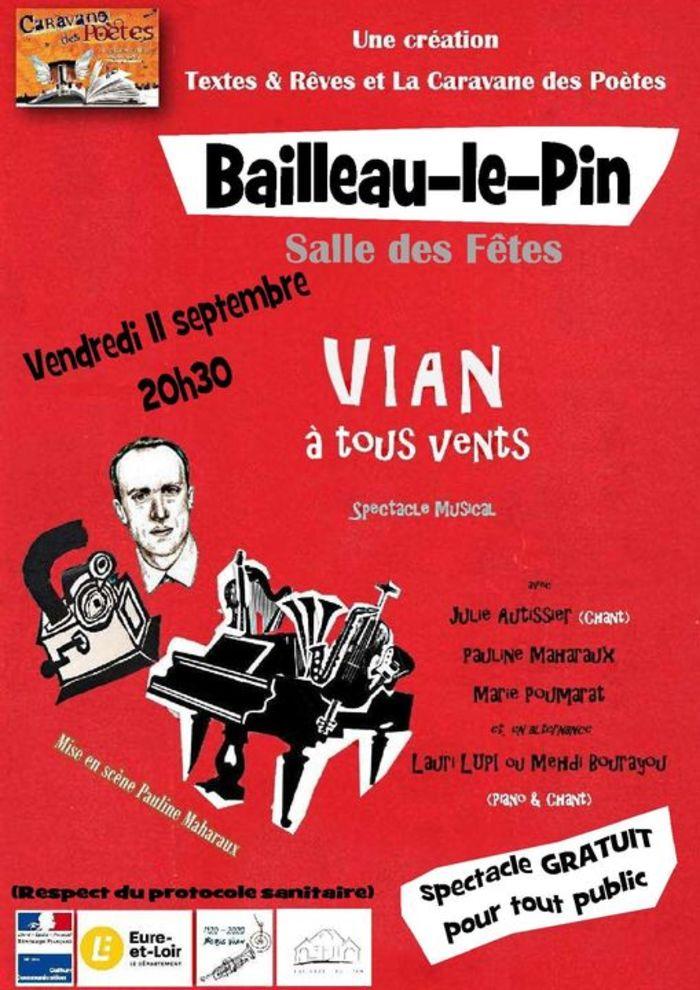 SPECTACLE Vian à tous vents 11 septembre 2020 à Bailleau-le-Pin