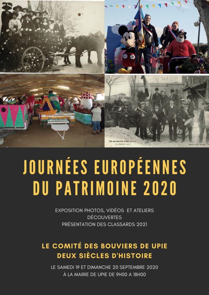 Journées du patrimoine 2020 - Exposition, deux siècles d'histoire Comité des Bouviers de Upie