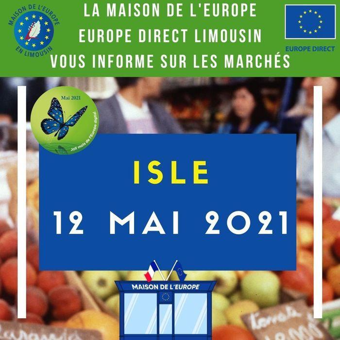 Stand d'information au marché d'Isle