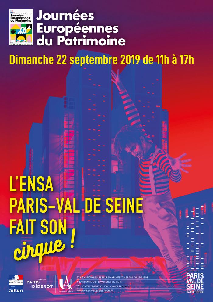 Journées du patrimoine 2019 - L'ENSA Paris-Val de Seine ouvre ses portes