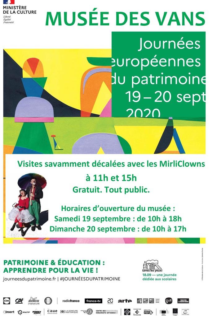 Journées du patrimoine 2020 - Visite savamment décalée avec les MirliClowns
