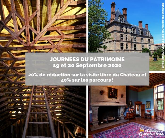 Journées du patrimoine 2020 - Visite du Château de la Guignardière