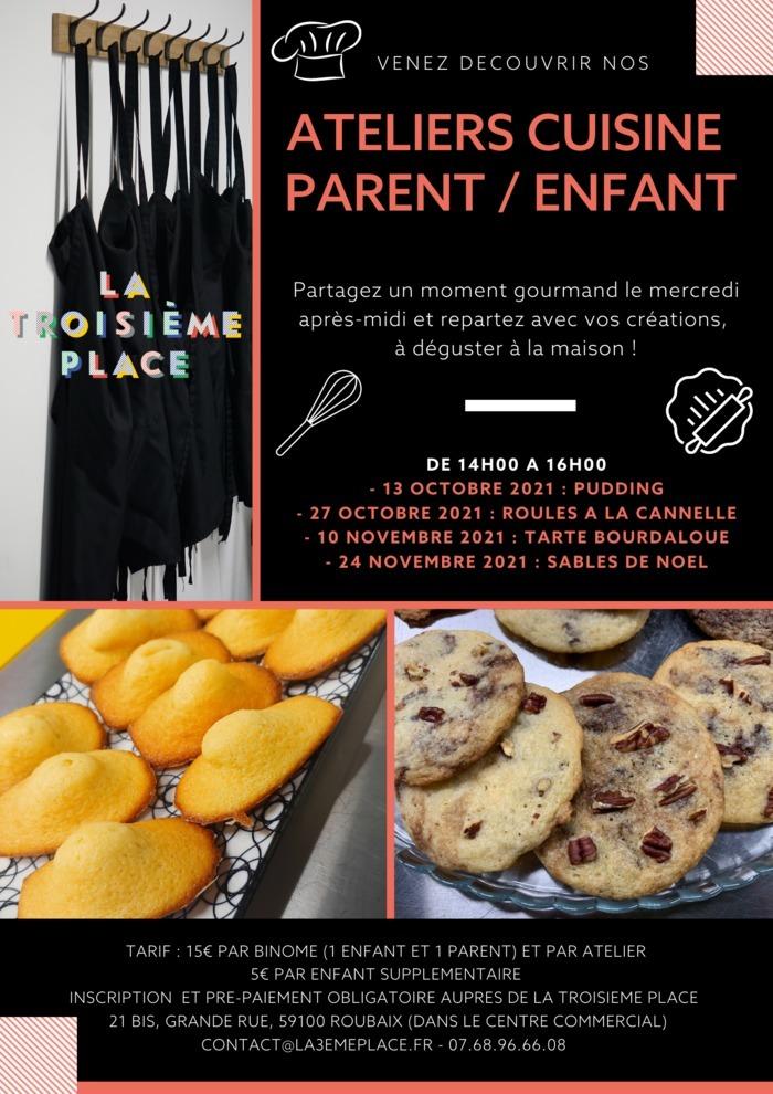 Ateliers cuisine parent - enfant à La Troisième Place