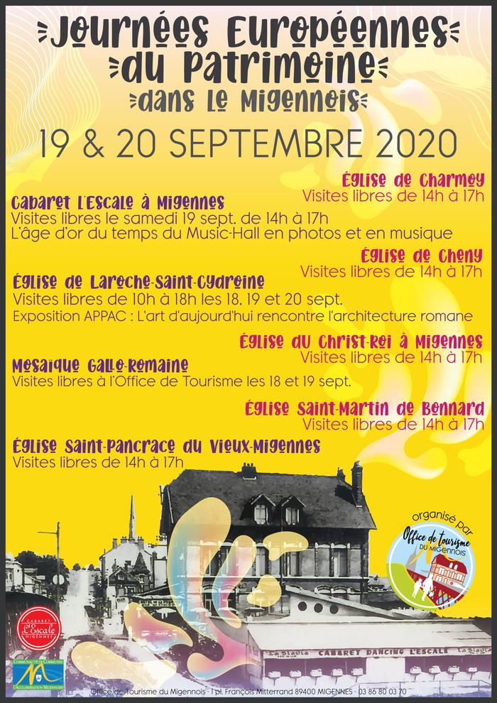 Journées du patrimoine 2020 - Visitez l'église Saint-Pancrace du vieux Migennes