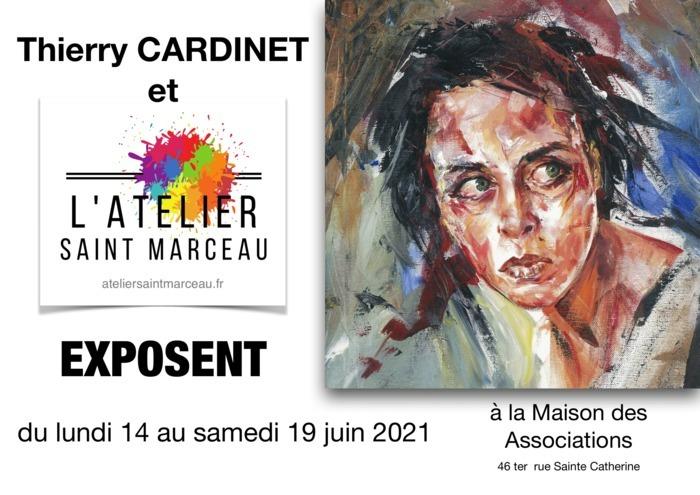 Le Peintre professionnel Thierry Cardinet expose à la Maison des Associations d' Orléans