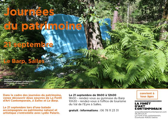 Journées du patrimoine 2019 - Balade contée sur les œuvres de La Forêt d'Art Contemporain