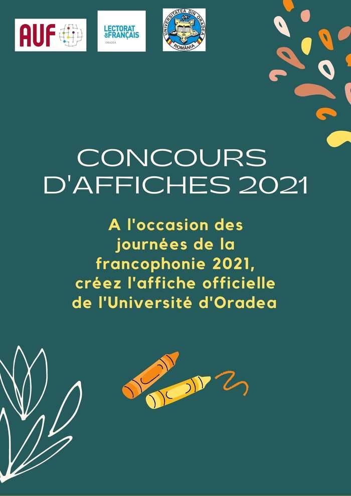Exprimez votre créativité au service de la Francophonie et créez l'affiche officielle du mois de la Francophonie à l'Université d'Oradea.