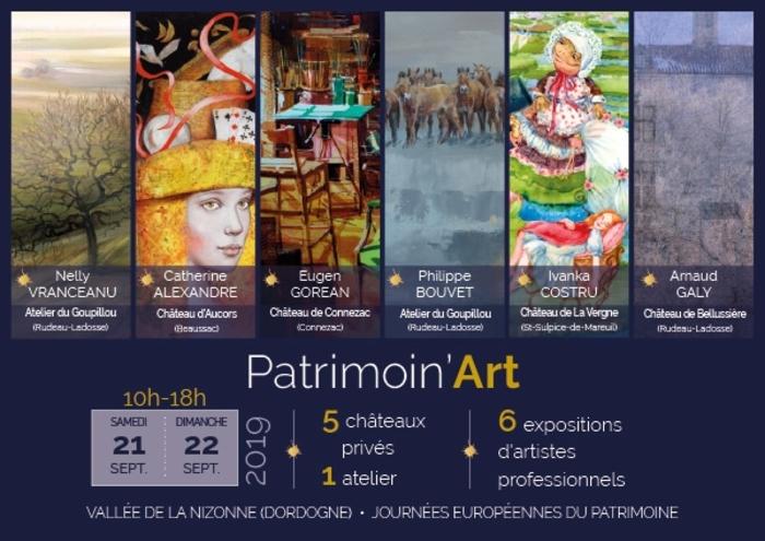 Journées du patrimoine 2019 - Découverte guidée de la cour d'honneur, des terrasses et d'une exposition.
