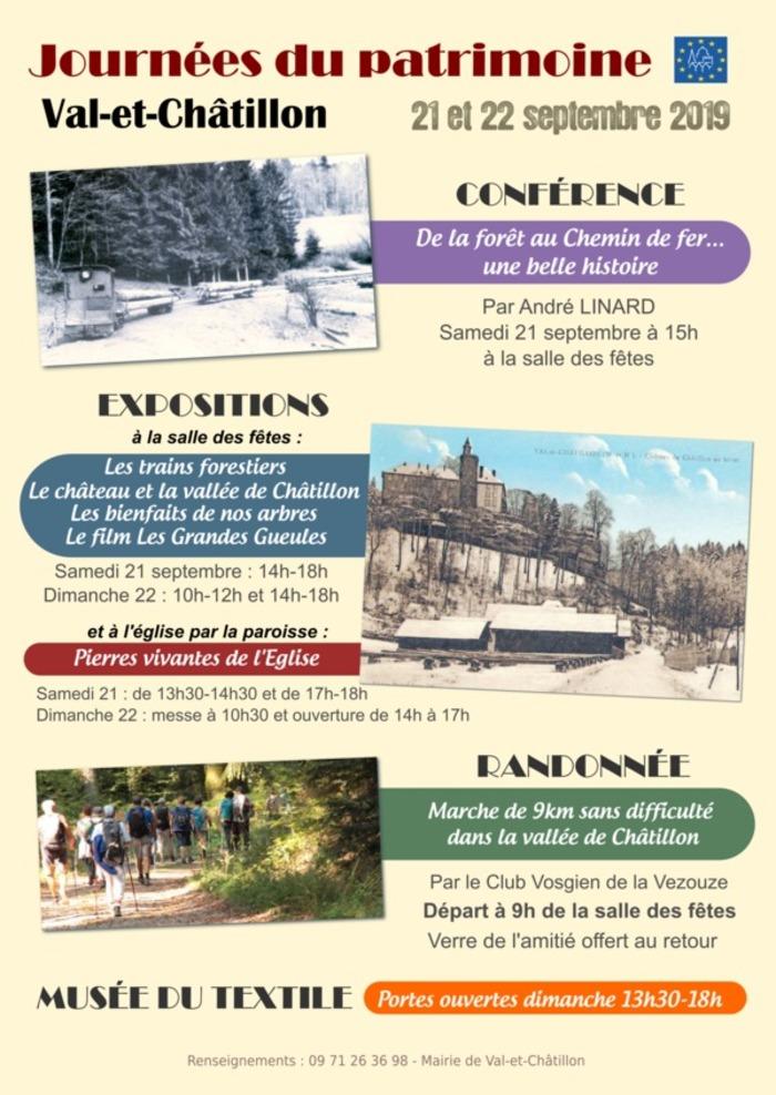 Journées du patrimoine 2019 - Journées du Patrimoine à Val-et-Châtillon